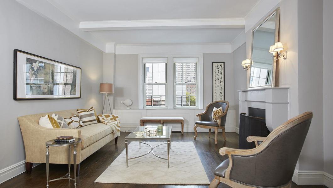 125 East 63rd Street, New York, Apt. 8B, Living Room—featured in NY Times in the On the Market Section (8/30/15)