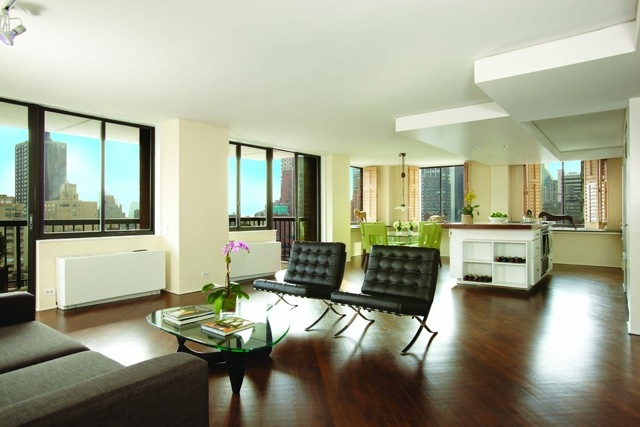 300 East 54th Street, Apt.JKL, New York, Living Room. Sold at First Open House.