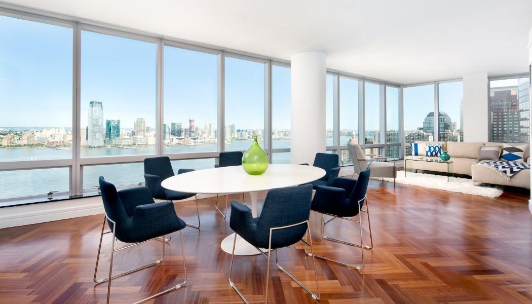 Ritz Carlton, 10 West Street, New York, Apt. 32A, Dining Room/ Living Room